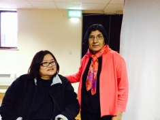 Eleanor Lisney with Rashida Manjoo