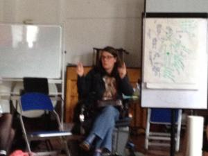 Ciara Doyle leading the workshop